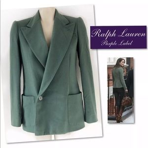 Ralph Lauren  Purple label Cashmere Blazer SZ 2